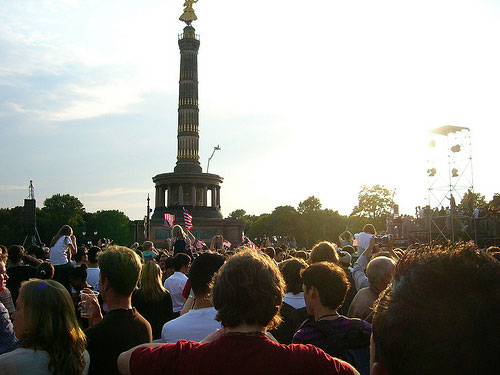 Obama visits Berlin - Speech at the Siegessäule